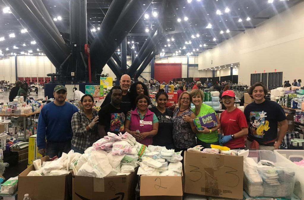 Volunteering during Hurricane Harvey in 2017